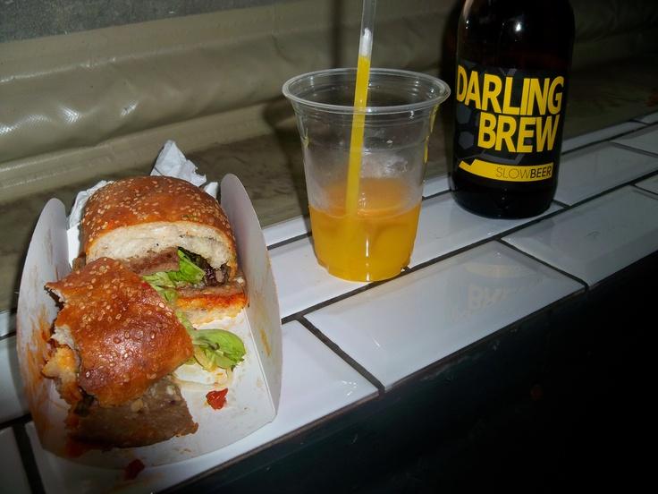 Neighbourgoods Market Balkan Burger, Orange Juice, Darling Brew ...
