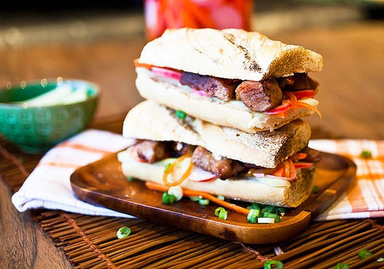 Caramelized Pork Bánh Mì Sandwiches | food | Pinterest