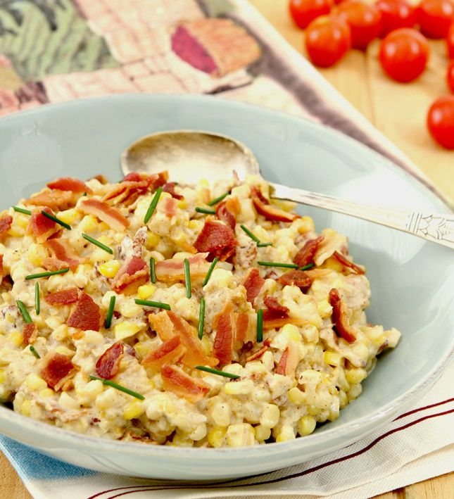 ... BEST Creamed Corn...with Cream Cheese, Bacon and Caramelized Onions