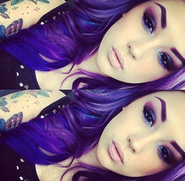 Purple Hair Pretty Makeup Too | Pretty Hair | Pinterest