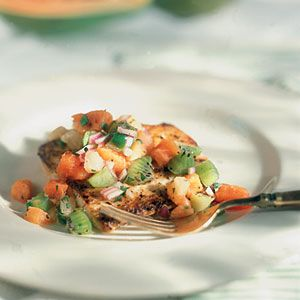 Seared Scallops With Tropical Salsa Recipes — Dishmaps