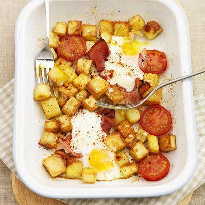 Gizzi Erksine's Egg, Ham And Chips Recipe — Dishmaps