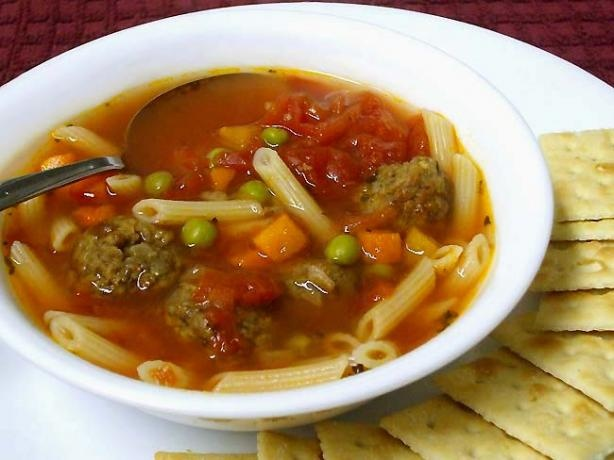 Italian Meatball Soup Recipe — Dishmaps