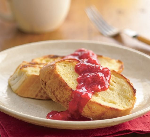 Baked french toast with strawberry-rhubarb 1 Serving: Calories 260 ...