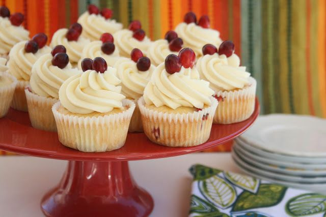 Cranberry Cupcakes with White Chocolate Mousse Filling