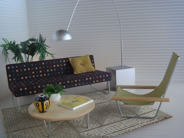 modern dollhouse furniture in the doll house pinterest