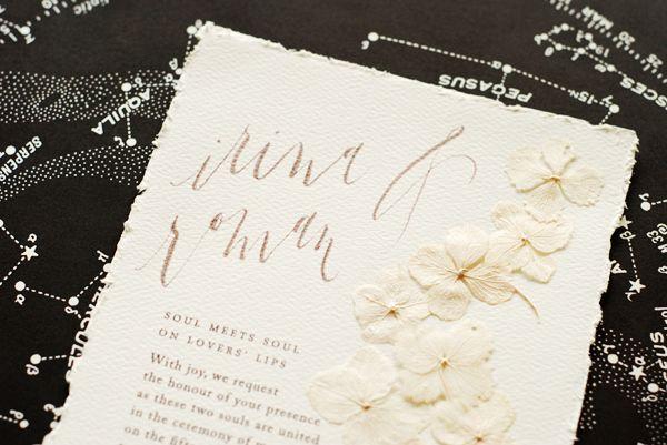 Beautiful Paper Irina Roman S Pressed Flower Wedding Invitations