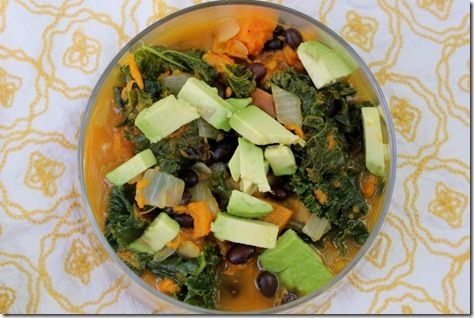 Kale and Roasted Vegetable Soup. The only soup I make. It's more of a ...