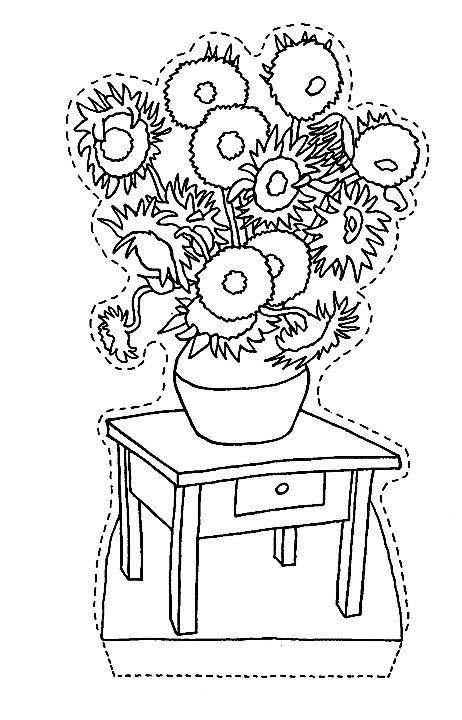 van gogh zonnebloemen kinder knutsels pinterest