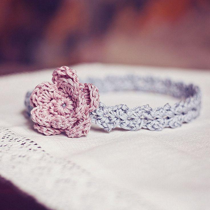 Crochet Baby Headband Pattern : Instant dwonload - Crochet PATTERN (pdf file) - Old Rose ...