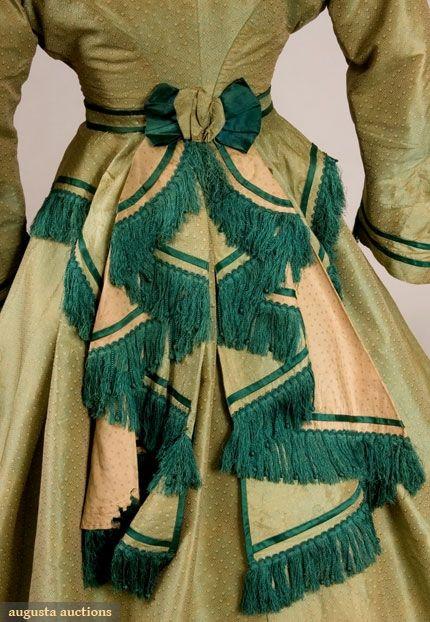 Back detail silk ensemble c1860