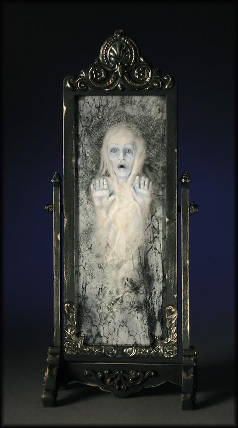 Haunted mirror haunted magical doll homes pinterest for Haunted bathroom ideas