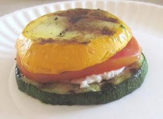 Zucchini-Tomato Napoleon 3 one-ball, cue-ball, or eight-ball zucchini ...