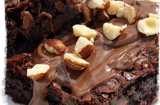 Nutella Caramel Hazelnut Brownies | Nutella | Pinterest