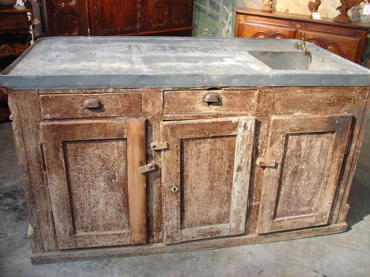 19th century painted counter with zinc top for Furniture 365 oldham