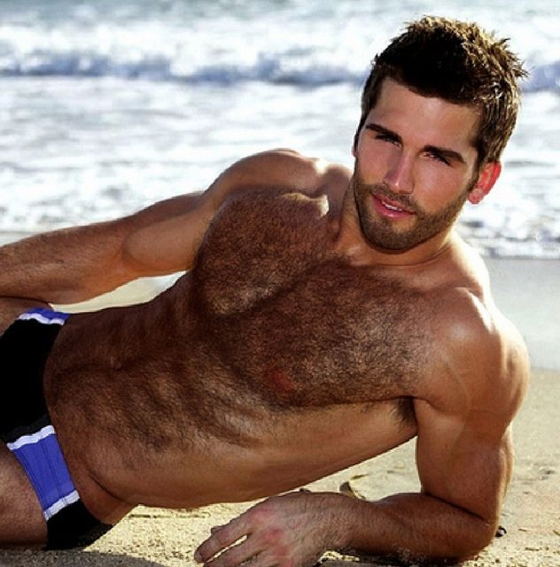 Hairy chest man