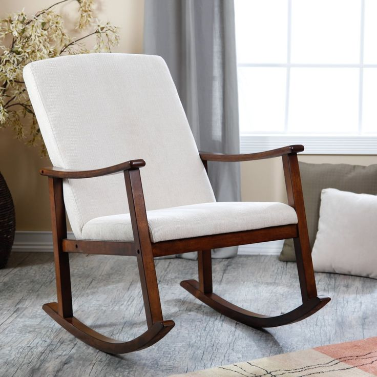 Holden modern rocking chair upholstered ivory maybe for l s room