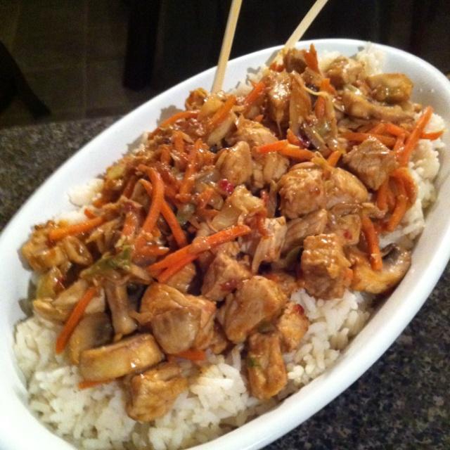 foodBoil riceCook meat of choice. Set aside. In same skillet stir fry ...