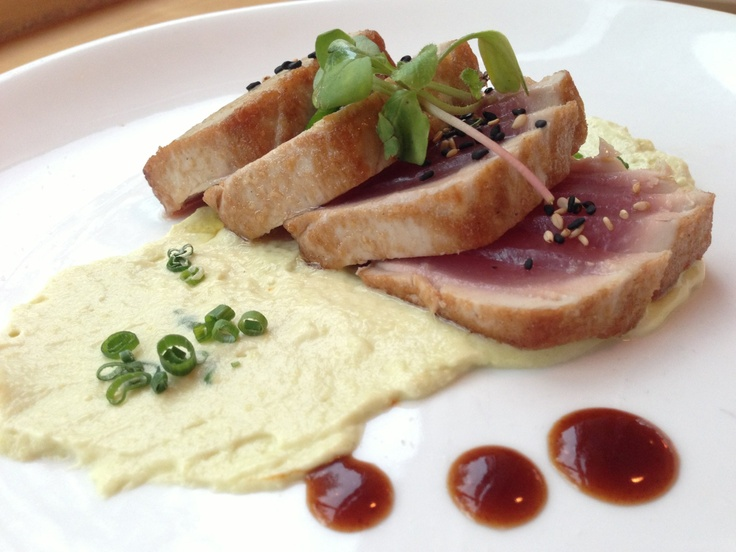 Seared Tuna, avocado mousse | April 2013 Specials | Pinterest
