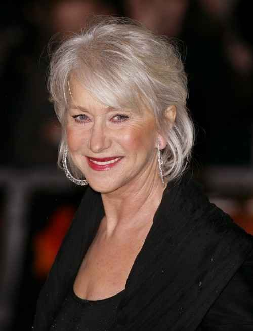 Stunning Gray Hair Styles For 2013 -Helen Mirren with softly ...
