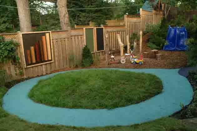 Backyard Nature Playground : Backyard Playground