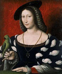 Jean Clouet, Portrait of Marguerite d'Angoulême, ca. 1530