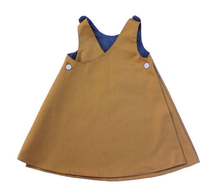 Sunflower Wrap Pinafore / mabo children's clothier