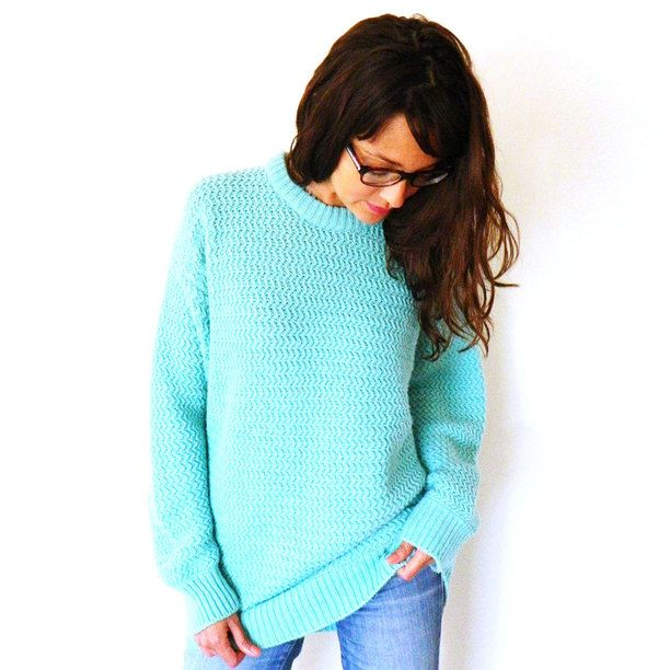 Waffle Knit Oversized Sweater