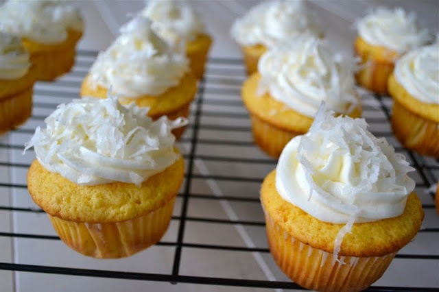 Coconut Key Lime Cupcakes - Mother Thyme