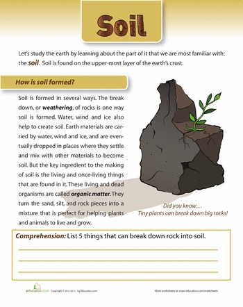 How is soil formed for Soil and its formation