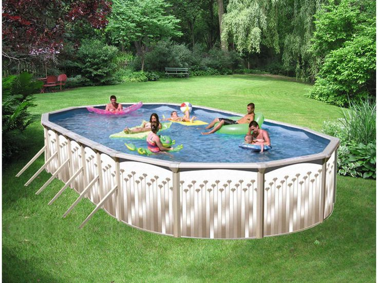 "SWIMMING POOL PACKAGE 12' x 18' x 52"" ABOVE GROUND OVAL"
