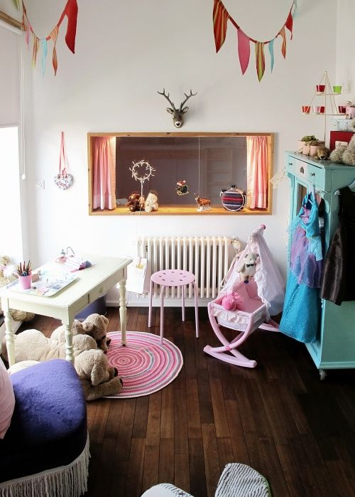 Girly with dark wood floors kids room pinterest for Kids room flooring