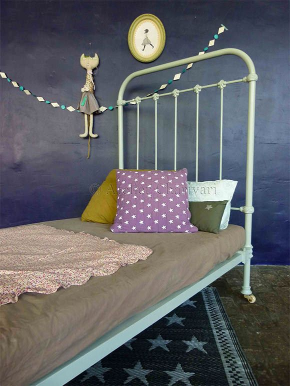 French Vintage for Kids' Rooms: Antique Iron Bed