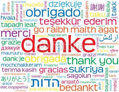 """Vecteur : """"DANKE"""" Karte (Vielen Dank Freundlichkeit Frieden Schön Sehr)"""