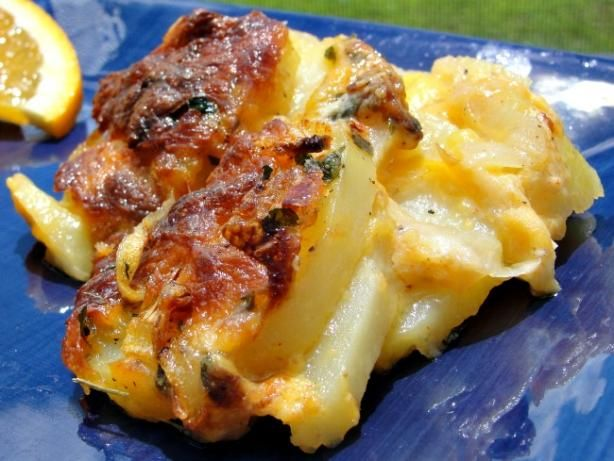 Swedish Onions and Potatoes Au Gratin. Photo by diner524