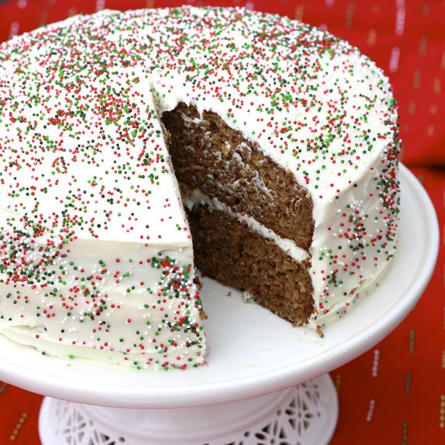 Gingerbread Cake with Maple Syrup Cream Cheese Frosting - love the ...
