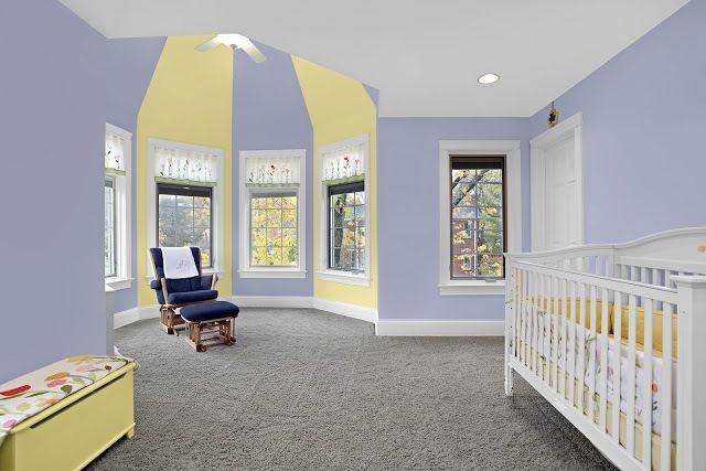 Purple and yellow baby room kids korner decor pinterest - Purple and yellow room ideas ...