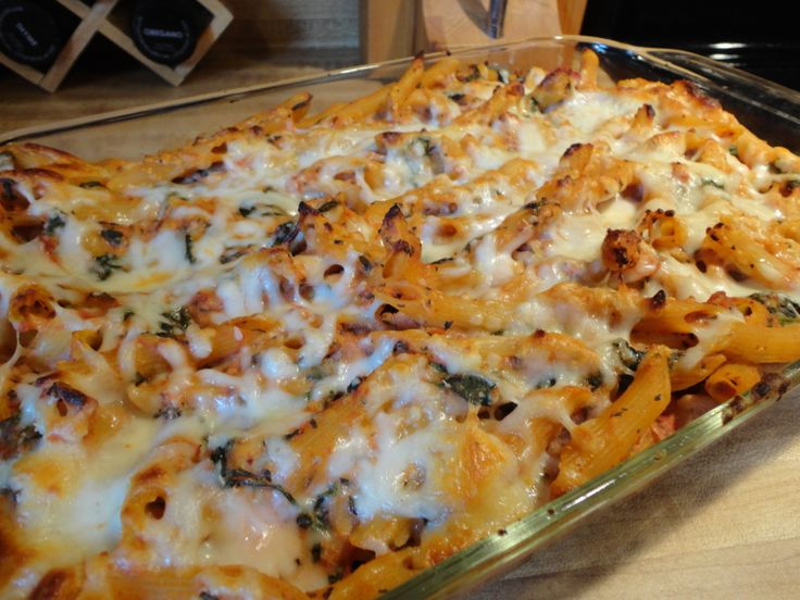 Low Fat Baked Ziti with Spinach | Recipe