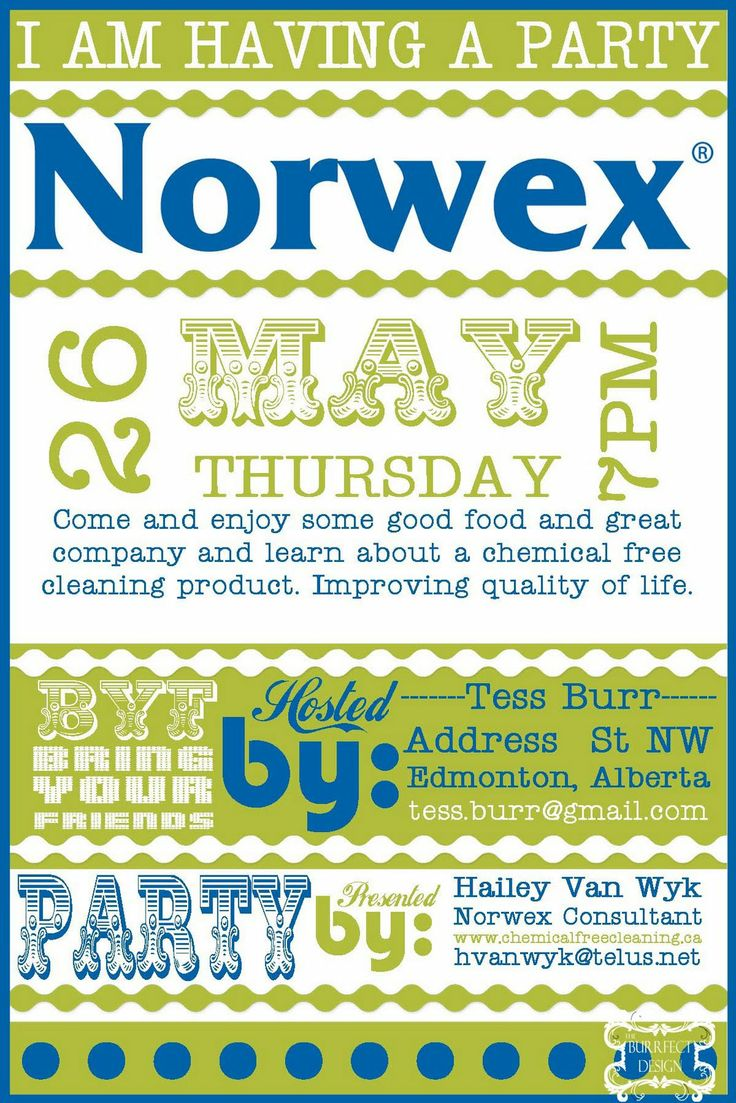 Norwex Party Invitation could be nice ideas for your invitation template