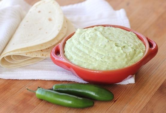 Roasted Chile Avocado Cream Dip | Foodie | Pinterest