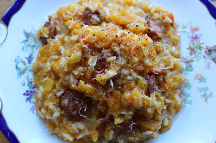 Butternut Squash and Chorizo Risotto | Comforting Dinners | Pinterest