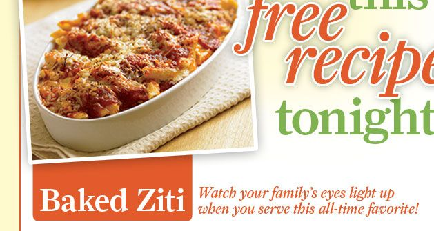 Biggest Loser Baked Ziti | Check! I actually did this! | Pinterest
