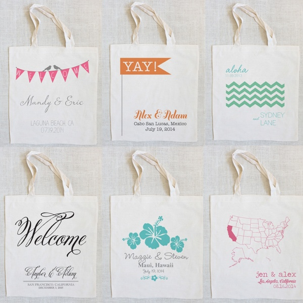 Welcome Tote Bags By The Wedding Chics