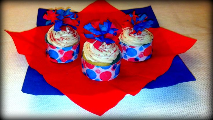 diy 4th of july cupcakes