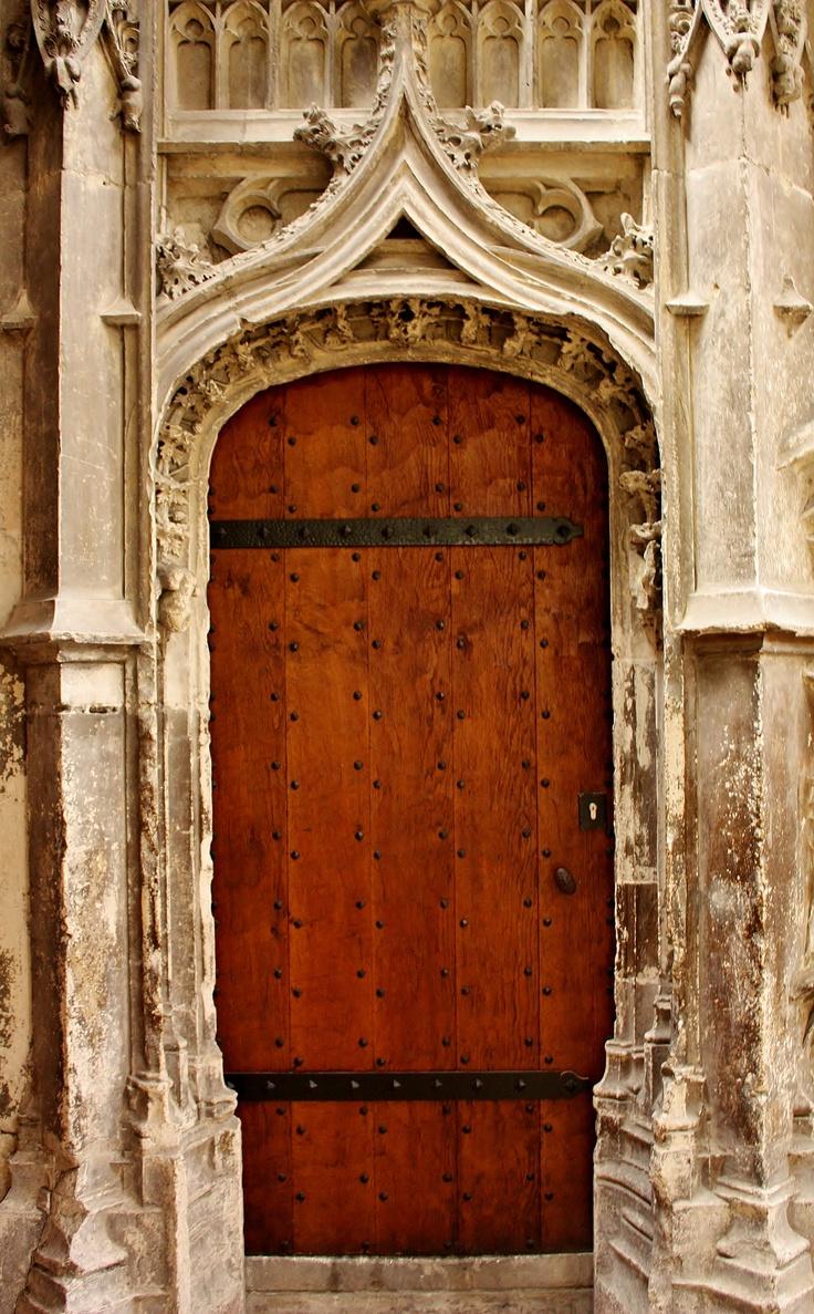 Door inside Rouen cathedral