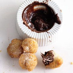 Zeppole with Chocolate Sauce - Because the only thing better than a ...