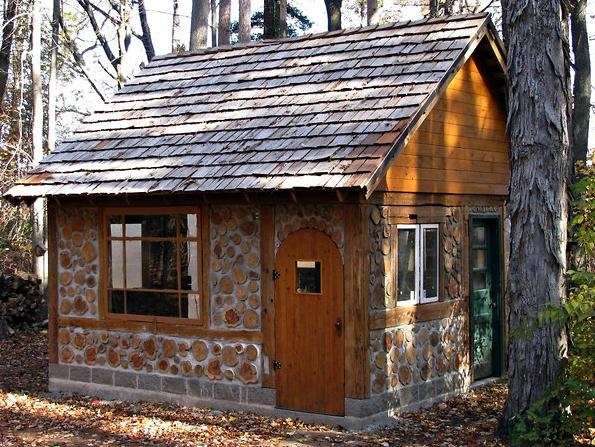 Cordwood house unique small cabins and guest houses for Unique small cabins