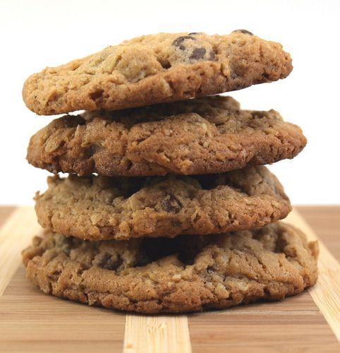 Monster Peanut Butter-Oatmeal-Chocolate Chip Cookies ...