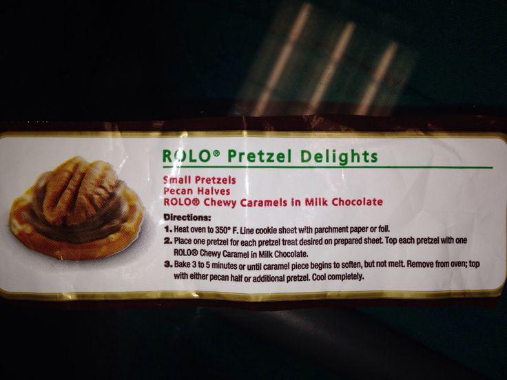 Rolo pretzels | Food | Pinterest