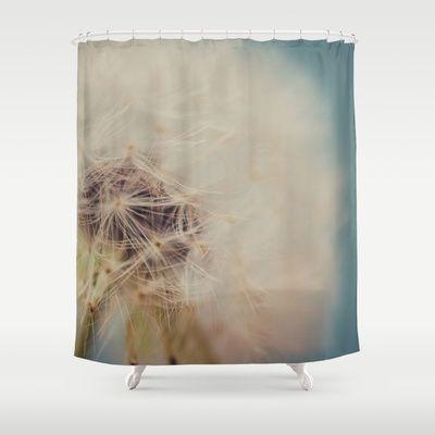 dandelion shower curtain by studiomarshallarts